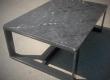 Ovaj moderan caffe stol izrađen za njemačkog naručitelja sastoji se od četkanog i impregniranog granita Nero lactea te metalne podkonstrukcije.