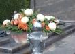 Bogato izvedena grobnica na Varaždinskom groblju. Granit: Himalaya Blue.
