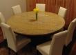 Prekrasan okrugli stol izradili smo od granita Juparana Luisa.